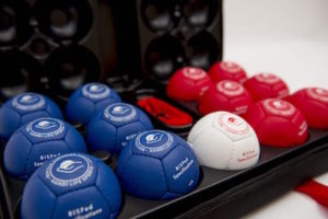 Boccia set with hard container