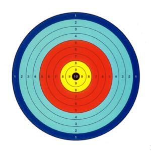 Blowgun target